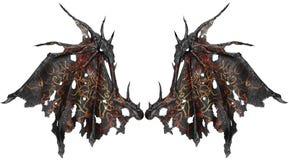 Крыла дракона изолированные на белой предпосылке Стоковая Фотография