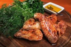 крыла соуса цыпленка Стоковое Фото