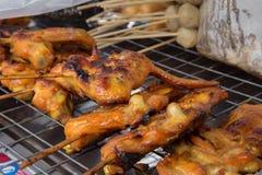 Крыла цыпленка гриля Стоковое Изображение RF