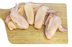 Крыла цыпленка зажжены Стоковая Фотография