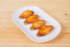 Крыла цыпленка пряные стоковая фотография
