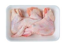 крыла цыпленка свежие сырцовые Стоковые Фотографии RF