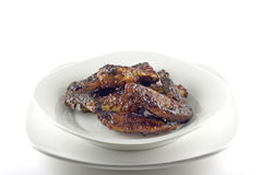 Крыла цыпленка BBQ Стоковое Изображение