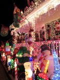 Крылечко рождества в предместье Вирджинии Стоковые Фото