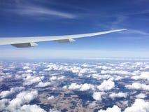 крыло взгляда плоскости двигателя двигателя видимое Стоковое Фото