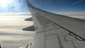 Крыло воздушного судна на полете Стоковое фото RF
