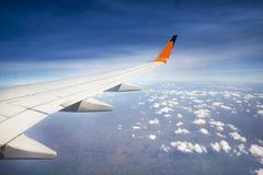 Крыло летания самолета Стоковое фото RF