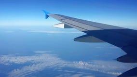 Крыло над облаками Стоковое Изображение
