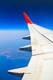 Крыло неба и реактивного самолета Стоковое Фото