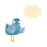 крыло птицы шаржа развевая с пузырем мысли Стоковые Фото