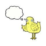 крыло птицы шаржа развевая с пузырем мысли Стоковое Изображение RF