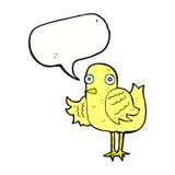 крыло птицы шаржа развевая с пузырем речи Стоковые Изображения