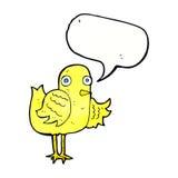 крыло птицы шаржа развевая с пузырем речи Стоковые Изображения RF