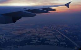Крыло самолета Стоковая Фотография