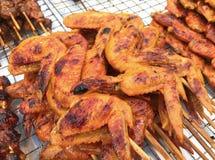 Крыло цыпленка BBQ Стоковое Изображение
