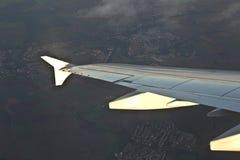 Крыло aircraftn Стоковое фото RF