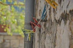 Крюки прачечной стоковое фото rf