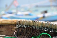 Крюки рыболобного яруса удя Стоковые Изображения
