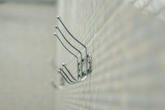 Крюки для полотенец на доске стоковое изображение rf