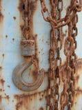 крюк для цепного блока ржавый Стоковая Фотография