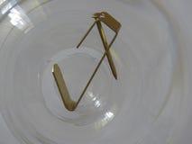 Крюк изображения с ногтем над стеклом Стоковое Изображение RF