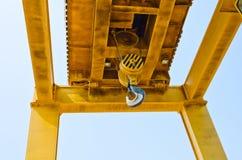 Крюк крана конструкции Стоковые Изображения