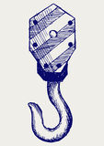 Крюк крана Стоковое Фото
