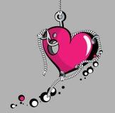 крюк сердца Иллюстрация штока