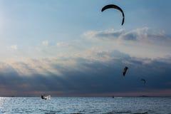 Крюк Kitesurfing Sandy Стоковые Изображения RF