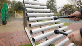Ксилофон в парке Стоковая Фотография RF