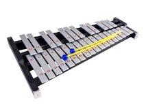 Ксилофон с мушкелами на изолированной белой предпосылке Стоковое фото RF