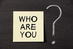 Кто вы? Стоковое Изображение RF