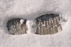 Кто-то вышло следы ноги в снег стоковая фотография rf