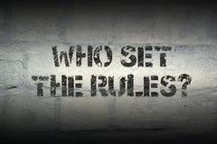 Кто установило правила Стоковые Фотографии RF