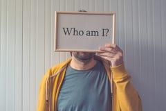 Кто я, концепция самопознания стоковая фотография rf