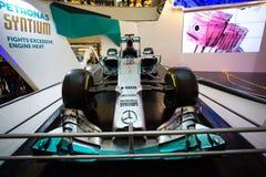 КУАЛА-ЛУМПУР, МАЛАЙЗИЯ - 24-ое июня 2015: Команда F1 syatium Petronas Стоковые Изображения RF