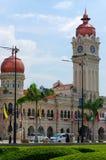 КУАЛА-ЛУМПУР, МАЛАЙЗИЯ - 16-ое ноября 2016: Драматический пейзаж города Куалаа-Лумпур на заходе солнца Взгляд от KL-башни Menara Стоковые Изображения