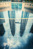 КУАЛА-ЛУМПУР - 15-ое февраля: Взгляд Башен Близнецы Petronas 1-ого февраля Стоковые Изображения RF