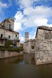Куба. Гавана. Castillo de Ла Реальн Fuerza.Cityscape в солнечном дне стоковые изображения