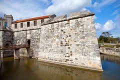 Куба. Старая Гавана. Castillo de Ла Реальн Fuerza.Cityscape в солнечном дне стоковые фото