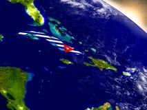 Куба с флагом в восходящем солнце Стоковые Изображения RF