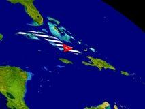 Куба с флагом на земле Стоковая Фотография RF