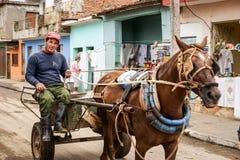 Куба, Тринидад Лошад-нарисованное carrige стоковые изображения rf