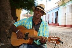 Куба, Тринидад, музыкант Стоковая Фотография RF