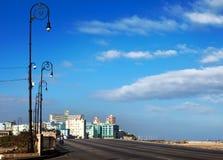 Куба Улица Malecon старой Гаваны Стоковые Изображения