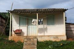 Куба, Vinales, старое бунгало Стоковое фото RF