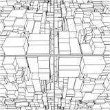 кубика города 29 вектор абстрактного коробок урбанский Стоковое Изображение RF