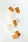 Кубики желтого сахарного песка Стоковое Фото