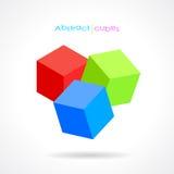 Кубики вектора абстрактные бесплатная иллюстрация
