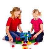 кубики детей замока здания стоковая фотография